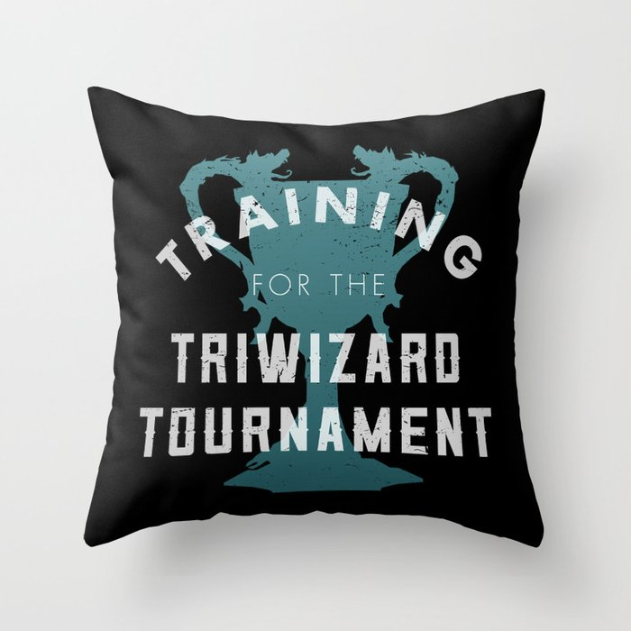 Training: Triwizard  Cup Throw Pillow