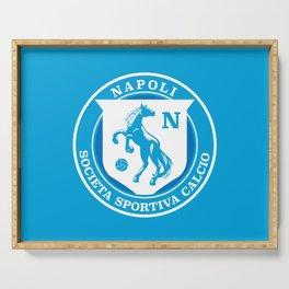 Naples Horse Football badge Serving Tray