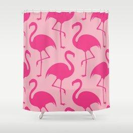 Barbie Flamingoes Shower Curtain