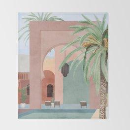 Moroccan Pool Throw Blanket