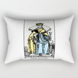 Modern Tarot Print - King Of Cups Rectangular Pillow