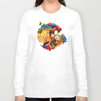 luffy Long Sleeve T-shirts featuring Luffy Attack by feimyconcepts05