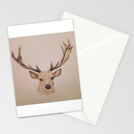 Stag colour drawing Stationery Cards