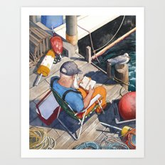 Down East Dockside Art Print