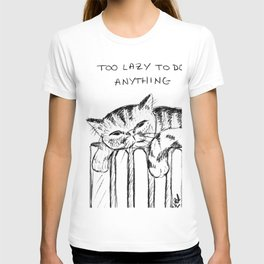 Too lazy cat T-shirt