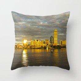 Back Bay Sunset Throw Pillow