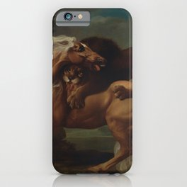George Stubbs - A Lion Attacking a Horse iPhone Case