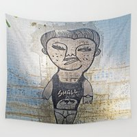 potato Wall Tapestries featuring Small Potato  by Ethna Gillespie