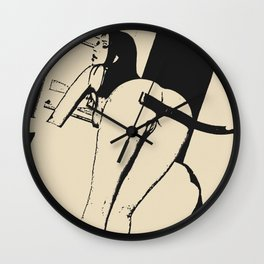 Bad, bad, baaaad girl! Wall Clock