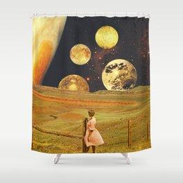 Jupiter field Shower Curtain