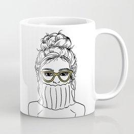 Turtleneck Girl Portrait Coffee Mug