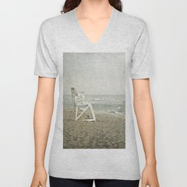 Lifeguard Chair at Dawn Unisex V-Neck