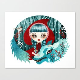 Red of the Woods Canvas Print
