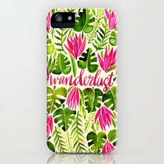 Tropical Wanderlust – Pink & Lime Slim Case iPhone (5, 5s)