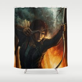 Katniss Everdeen Shower Curtain