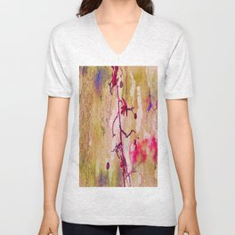Abstract Nature Berry Art Unisex V-Neck