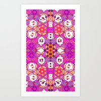 Art Print featuring Border O Pattern 1 by Cie Ja