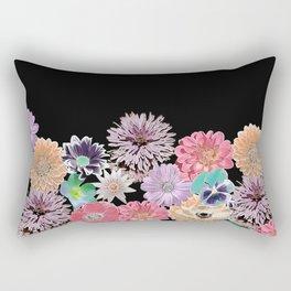 Pink Rose Floral Rectangular Pillow