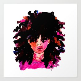 BABY HAIR AND AFROS Art Print