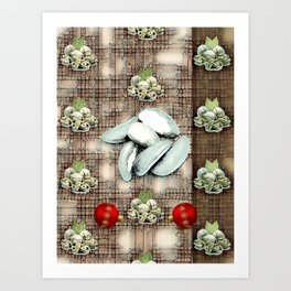 Nuts and Baubles. Art Print