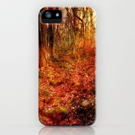 Forest poetry iPhone Case