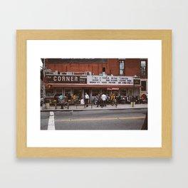 The Corner Deli Framed Art Print