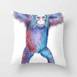 Eric the Chimp Throw Pillow