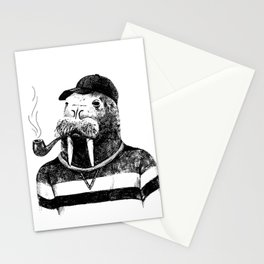 Walrus with a Pipe Stationery Cards