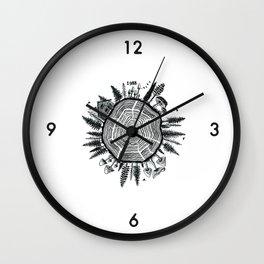 Growth Rings Wall Clock