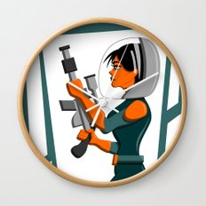 Spacewoman Wall Clock