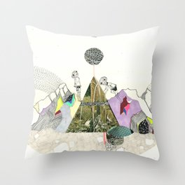 Climbers - Cool Kids Climb Mountains Throw Pillow