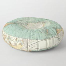 Vintage Map of Antarctica, 1912 Floor Pillow