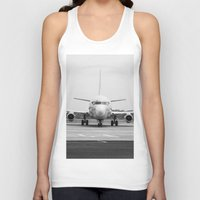 airplane Tank Tops featuring Airplane  by Gustavo Aragundi