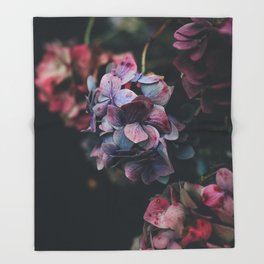 FLOWERS - FLORAL - PINK - RED - PHOTOGRAPHY Throw Blanket