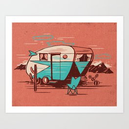 PALM SPRINGS CARAVAN Art Print