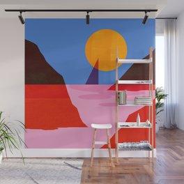 Abstraction_MOONLIGHT_Sailing_Minimalism_001 Wall Mural