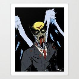 Zombie Birdman Art Print