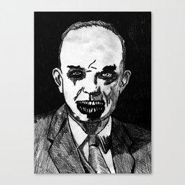 34. Zombie Dwight D. Eisenhower Canvas Print