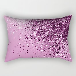 Sparkling Pink Lady Glitter #1 #shiny #decor #art #society6 Rectangular Pillow