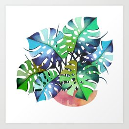 Watercolor Monstera Or One Fine Swiss Cheese Plant Art Print