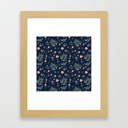 Blue garden Framed Art Print