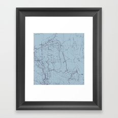 Contour Mapping v.2 Framed Art Print