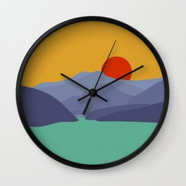Gumi Mountain Sunrise Wall Clock