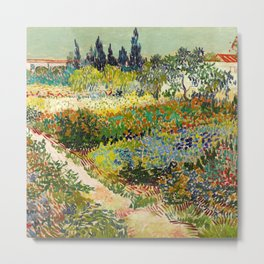 Vincent van Gogh - Garden at Arles Metal Print