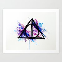 deathly hallows Art Prints featuring Deathly Hallows by Sterekism
