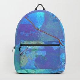 Galveston Texas Street Map Art Watercolor Blue Lagoon Backpack