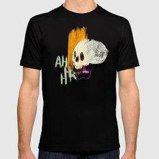 AHHHHHHR IT'S A SKULL (ACTUALLY IT'S JUST THE CRANIUM) Black MEDIUM Mens Fitted Tee