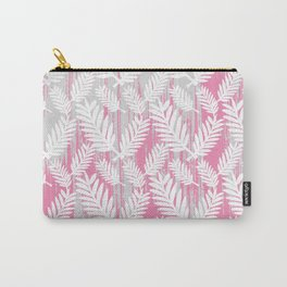 Fuchsia modern watercolor brushstrokes white floral Carry-All Pouch