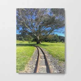 Small Train Tracks Metal Print