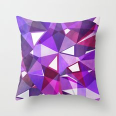 Abstract Amethyst Throw Pillow